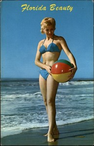 Beach Ball Florida Postcard
