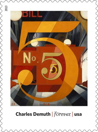 Modern art stamp