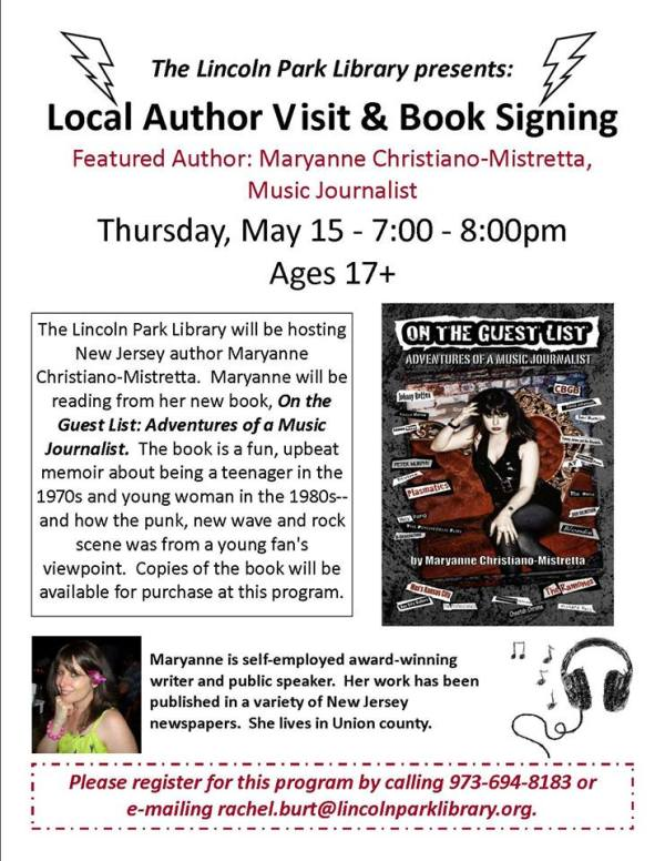 Book Signing Lincoln Park